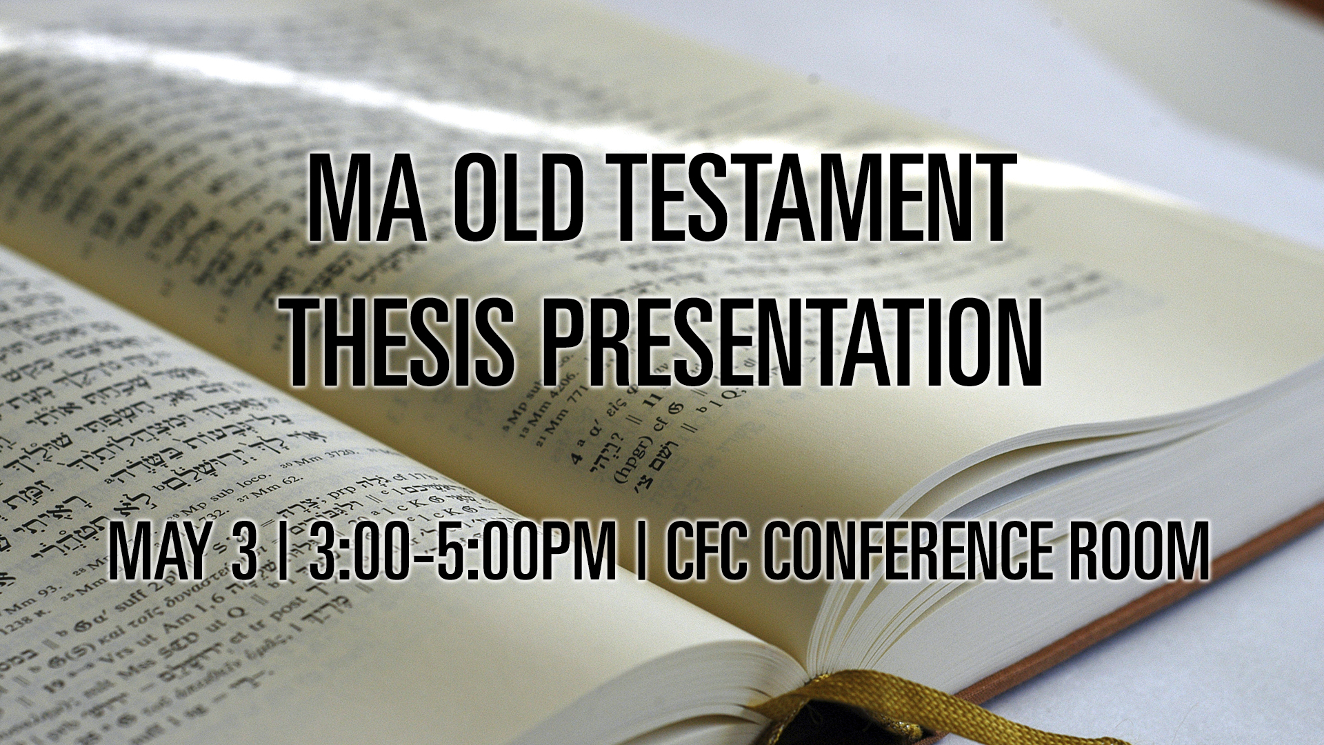 old testament dissertations Recent dissertations recent dissertation topics include: a study of hospitality in the old testament, using the tool of linguistic pragmatics.