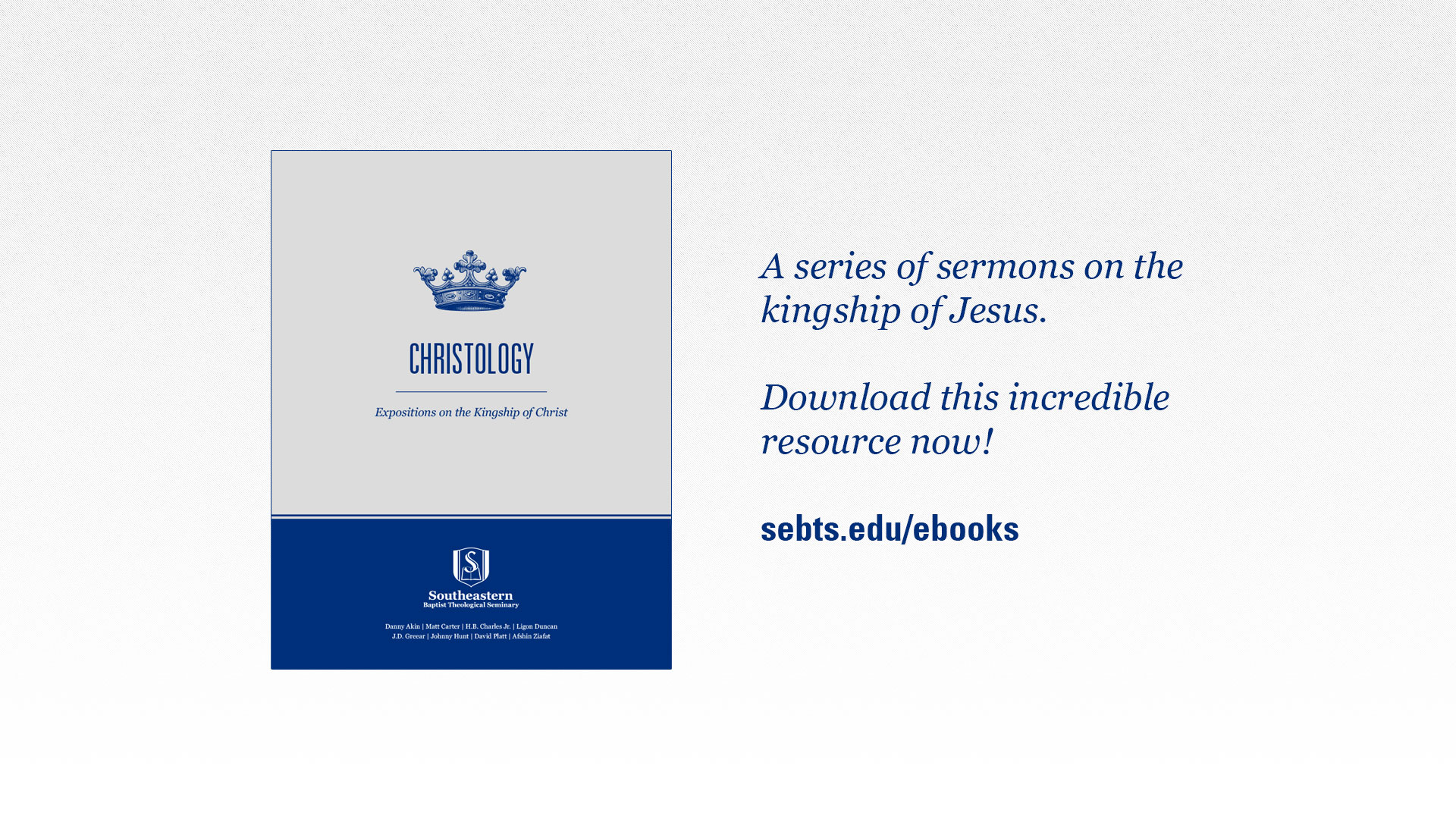 Free Christology E-Book | Around Southeastern